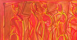 """5 Figuras #7″ 2010 110x130cm AST (vendido)"