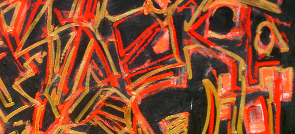 """Golden Red"" 2009 110x140cm AST"