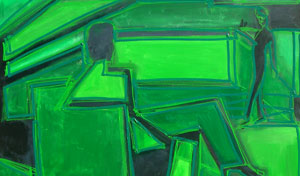 """Green Room"" 2010 110x130cm AST (vendido)"