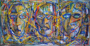 """Tela """"3 Caras"""" 200 x 100cm AST 2010 (vendido)"""